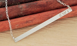 Monogram Online: Monogram-Initial Bar Necklace from Monogram Online (Up to 68% Off). Two Options Available.