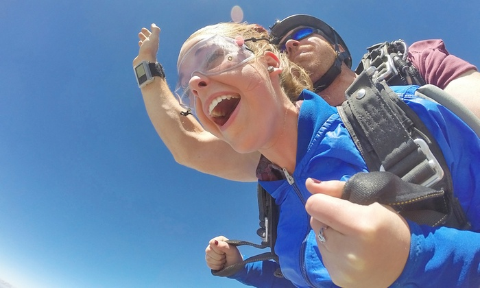 Piedmont Skydiving - Salisbury: Tandem-Skydiving for One or Two with $20 Credit Toward Photos and Videos at Piedmont Skydiving (Up to 27% Off)
