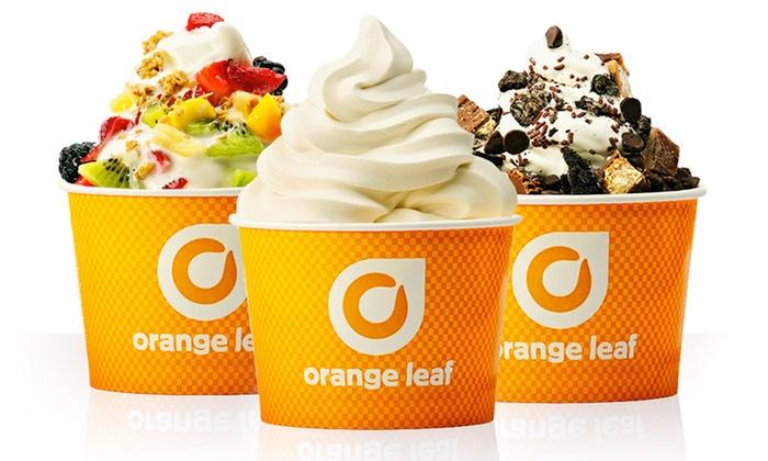 Orange Leaf Frozen Yogurt - Multiple Locations: One or Three Groupons, Each Good for $10 Worth of Frozen Yogurt at Orange Leaf (40% Off)