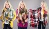 Oversize Plaid Blanket Scarves