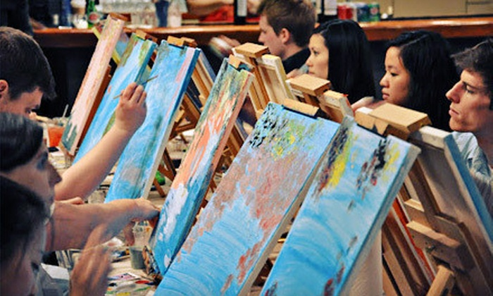 Art By The Glazz - West Orange: $29 for an Adult Painting Class with a Complimentary Glass of Wine from Art By The Glazz in West Orange ($75 Value)
