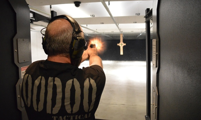 DCF Guns - Castle Rock: All-Day or Fully Automatic Shooting-Range Package at DCF Guns (Up to 81% Off). Four Options Available.