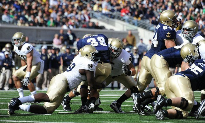 Navy Midshipmen vs. Notre Dame Fighting Irish - FedEx Field: One Ticket to a Navy vs. Notre Dame Football Game from RPPI (Up to 52% Off). Two Seating Options.