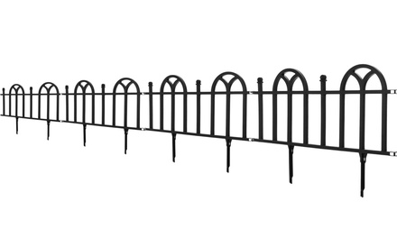 Pure garden victorian garden border fencing set groupon for Gardening 4 less groupon