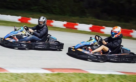 Mini Grand Prix or Grand Prix Go-Karting Session for One or Two at Palm Beach Kart Center (40% Off)