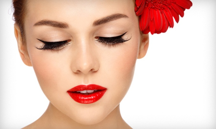 Lash Lounge LA - West Adams: Full Set of Silk Eyelash Extensions with Optional 2, 5, or 11 Refills at Lash Lounge LA (Up to 64% Off)
