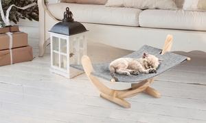 Hamac pour chat pieds en bois