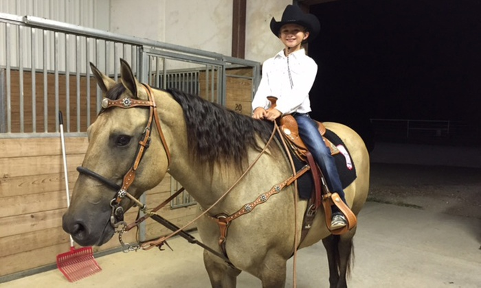 RNR STABLES - Post Oak Crossing: $265 for a Kids' Horseback-Riding Spring or Summer Camp at RNR Stables ($450 Value). 14 Weeks Available.