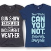 Women's Winter Humor T-Shirts (Plus Sizes Available)