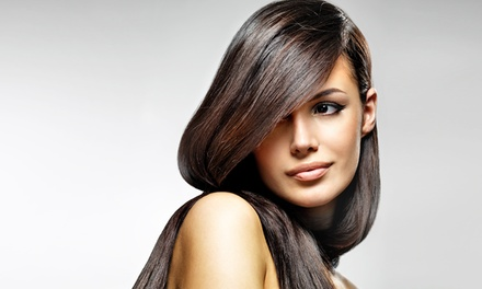 Keratin Treatment with Optional Women's Haircut at Vintage Beauty Salon (40% Off)