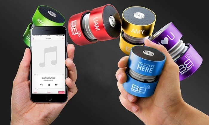 BassBoomz: One or Two Personalized Portable Bluetooth Speakers from BassBoomz (Up to 68% Off)
