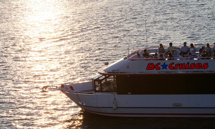Happy Hour, DJ Nights, or Monuments by Moonlight Cruise for One or Two from DC Cruises (Up to 48% Off)