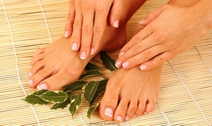 Une Pause Bien Être: Spa pedicure en/of manicure met paraffinebad voor handen