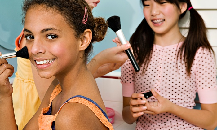 Sweet & Sassy - Multiple Locations: $15 for a Princess Makeover Package with Up-do, Nail Polish, Makeup, Lollipop and Tiara at Sweet & Sassy ($32.95 Value)
