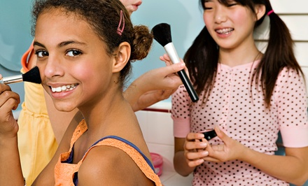 $15 for a Princess Makeover Package with Up-do, Nail Polish, Makeup, Lollipop and Tiara at Sweet & Sassy ($32.95 Value)
