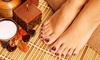Lavish Salon Spa - Boone Valley: Mani-Pedi or Shellac or Spa Manicure with an Exfoliant or Moisturizing Hand Mask at Lavish Salon Spa (47% Off)