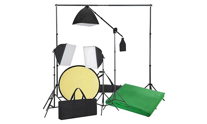 kit de studio photo professionnel groupon. Black Bedroom Furniture Sets. Home Design Ideas