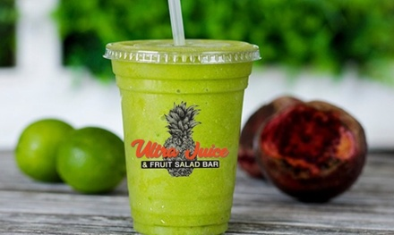 $15.75 for $24 Worth of Juices and Salads at Ultra Juice & Fruit Salad Bar