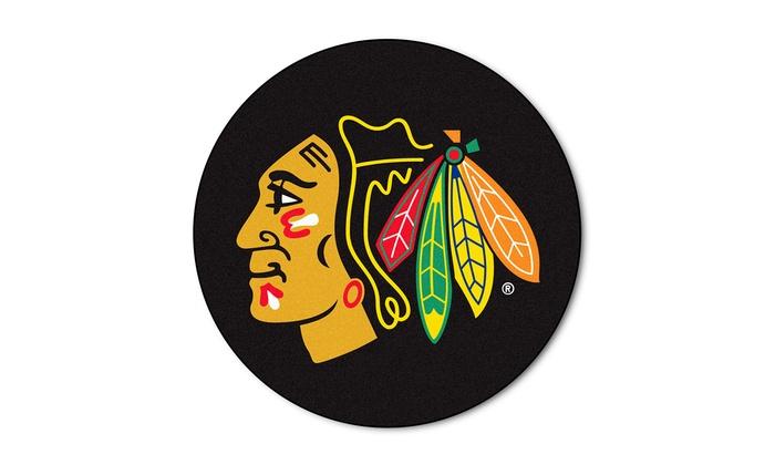 NHL Chicago Blackhawks Puck Mat: NHL Chicago Blackhawks Puck Mat