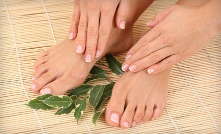 One Classic Manicure and Classic Pedicure (a $50 value) - A Cute Spa in Raleigh