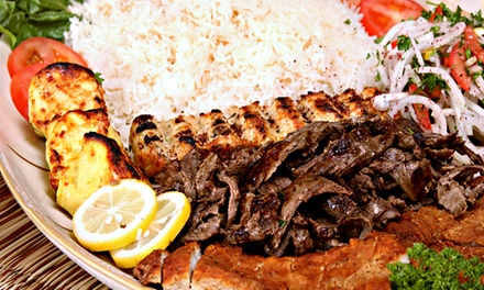 Mediterranean and Middle-Eastern Food at Sahara Restaurant Bar & Grill (Up to 42% Off). Three Options Available.