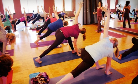 One or Three Months of Unlimited Yoga Classes at YogAsylum (68% Off)