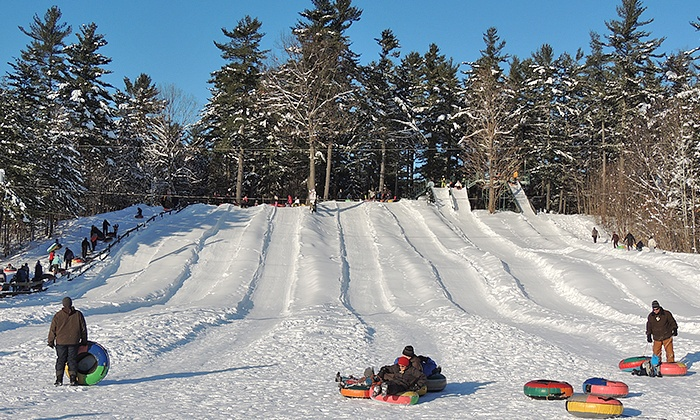 Domaine de l'Ange-Gardien - Domaine de l'Ange-Gardien: One All-Day Snow-Tubing Pass for Two or a Family of Four at Le Domaine de L'Ange-Gardien (Up to 51% Off)
