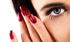 Sun Face Beauty Salon: Acrylic Extensions With Gel Manicure (AED 139) With Nail Art (AED 159) at Sun Face Beauty Salon (Up to 63% Off)