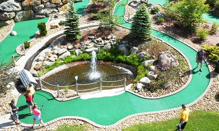 Four Rounds of Mini Golf with Optional Aeroball and Shoot-N-Shower Games at Chuckster's (Up to 50% Off)
