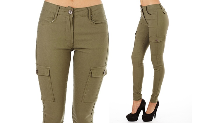 Crunch Women's High-Rise Cargo Pants (Size 7) | Groupon