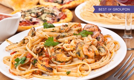 Italian Cuisine and Pizza at A'mis Italian Restaurant (40% Off). Two Options Available.