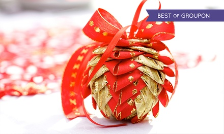 Christmas Cracker or Bauble Making Course for One or Two at Derby College