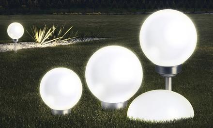 1, 2 ou 4 boules ou demi-boules 8 LED solaires blanches