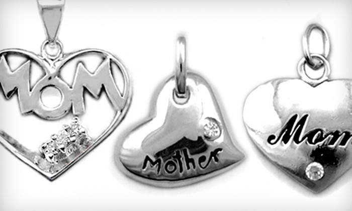 Silver Street Jewellers - Nutana: $15 for a Sterling-Silver Mothers' Day Heart-Pendant 18-Inch Silver Chain at Silver Street Jewellers (a $59.99 Value)
