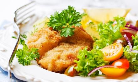 Schnitzel Wiener Art, Dessert und Softdrink im Restaurant Kantine Deluxe für 14,90 €
