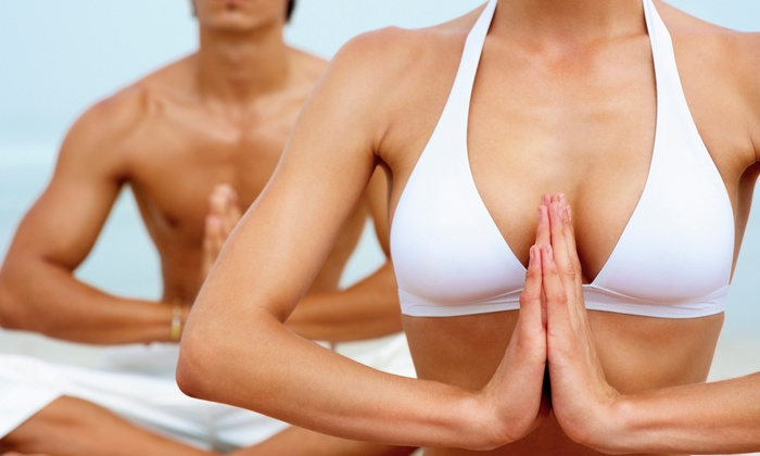 The Funky Om - Huntington: $49 for One Month of Unlimited Yoga at The Funky Om ($160 Value)