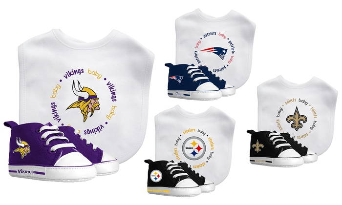 00492b7937e Up To 23% Off on Baby Fanatic NFL Bib and Shoes | Groupon Goods