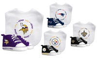 Baby Fanatic NFL Bib and Infant's Shoe Set