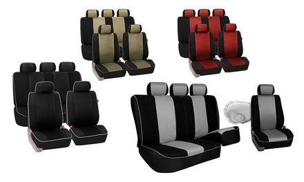 Cloth Car Seat Covers with Piping