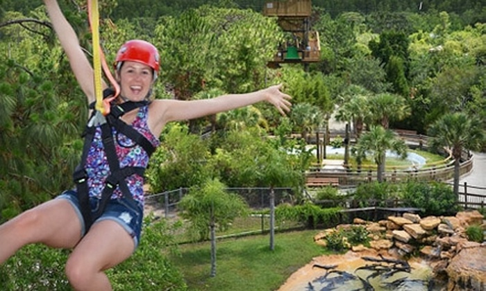 Gatorland - Orlando: Zipline Ride and Alligator-Park Visit for One, Two, or Four at Gatorland (Up to 52% Off)