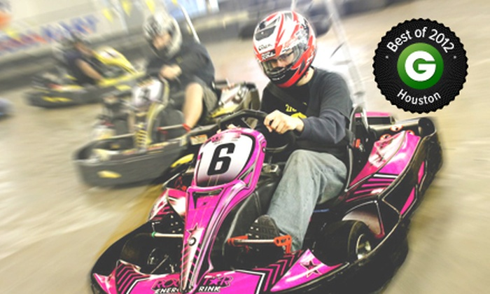 Track 21 - Houston: Indoor Go-Kart Races, Laser Tag, Mini Golf, and Sodas for Two or Four at Track 21 (Up to 51% Off)