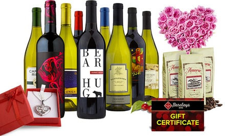 Wine, Amora Coffee, and Gift Cards from Barclays Wine (Up to 77% Off). Two Options Available.
