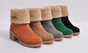 Boots fourrées à talons ajustables Anita