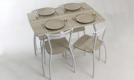 Set de mesa de comedor con 4 sillas Line