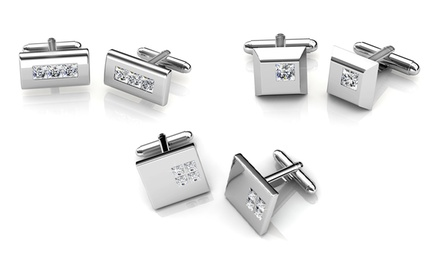 Men's Cufflinks with Swarovski Elements