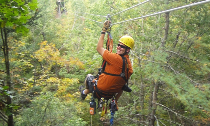 Virginia Canopy Tours - Shenandoah River State Park: $49 for Canopy Zip-Line Tour with T-Shirt at Virginia Canopy Tours ($109Value)