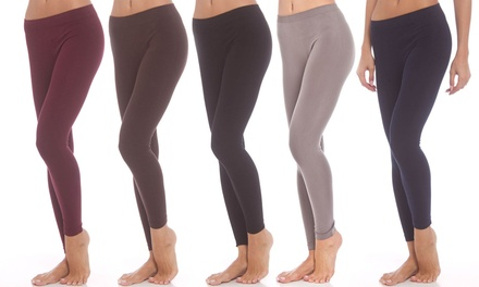 Women's Cotton Leggings (5-Pack)
