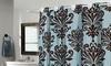Beacon Hill EZ-ON No-Hooks-Needed Fabric Shower Curtain: Beacon Hill EZ-ON No-Hooks-Needed Fabric Shower Curtain with Built-in Hooks