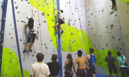 $20 for a Indoor Climbing Day Pass for Two People, or $55 for a FIveDay Pass for One at Rockface Up to $120 Value