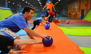 60- Or 90-minute Jump Pass For Two Or Birthday Party At Air Trampoline Sports (up To 35% Off)